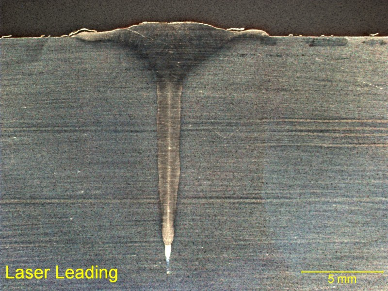 Laser-Hybrid bead-on-plate weld on Inconel 690