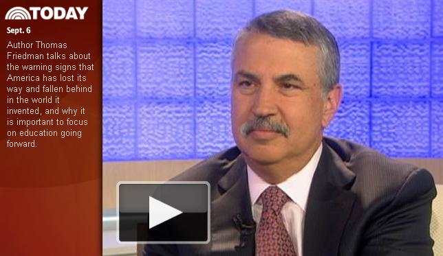Thomas Friedman on the Today Show