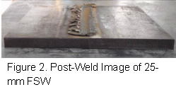 fig 2 post-weld-image 25mmFSW