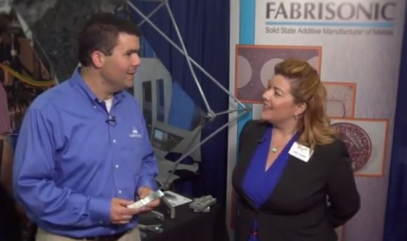 Fabrisonic President Mark Norfolk is interviewed by MEM's Sarah Webster at RAPID 2014