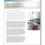 New Paper: Technology Trends in Consumer Electronics