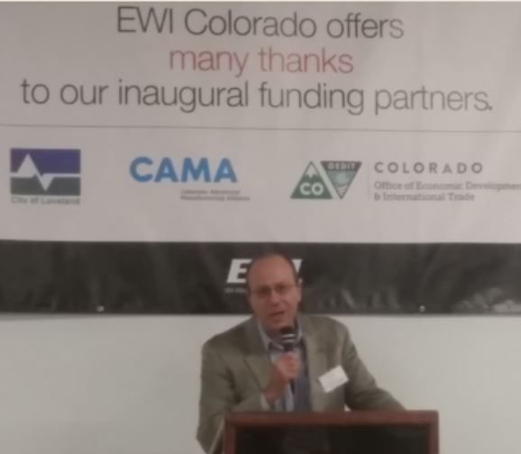 EWI President and CEO Henry Cialone addresses the guests