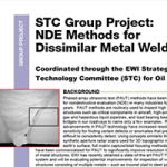 STC Group Project: NDE Methods for Dissimilar Metal Welds